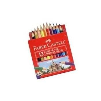 Lápices de color Faber Castell x12 cortos