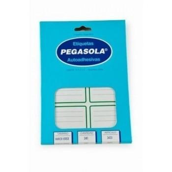 Etiqueta Pegasola escolar (caja x30 planchas)