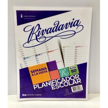 Planificador escolar Rivadavia
