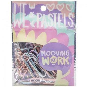 Clips Mooving x50 pastel
