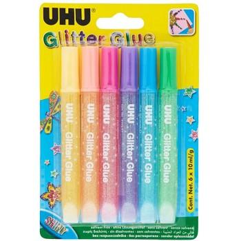Adhesivo Glitter UHU x6